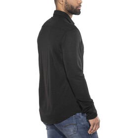 super.natural Comfort Piquet Shirt Men Jet Black